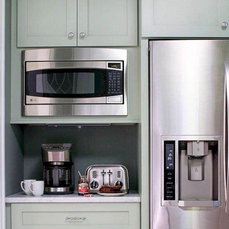 Best 25 microwave cabinet ideas only on pinterest for Beautiful built in kitchens