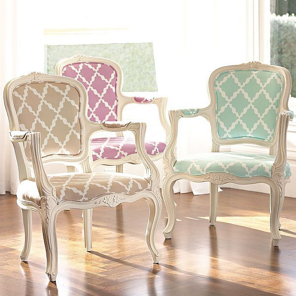 I like the modern twist on these vintage chairs.
