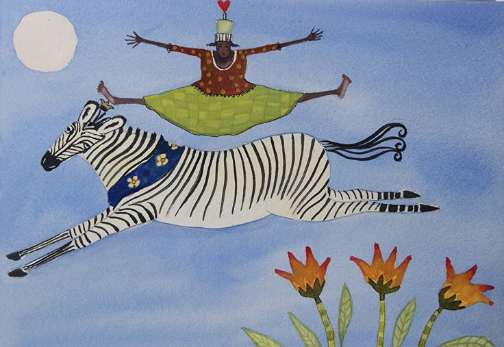 "Leap of Faith by julia cairns Watercolor ~ 9"" x 12"""