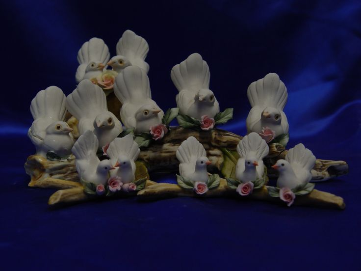Colombe Bianche per il Battesimo, Comunione, Matrimonio, in Porcellana.