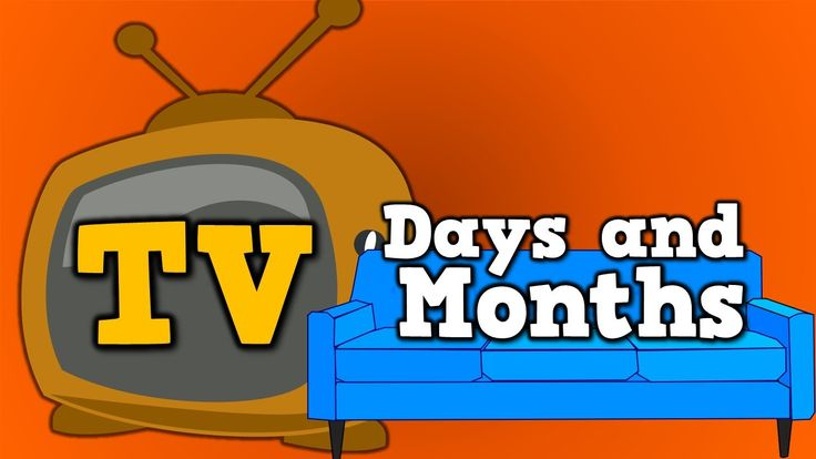 TV Days and Months (calendar song for kids about days and months of the year)