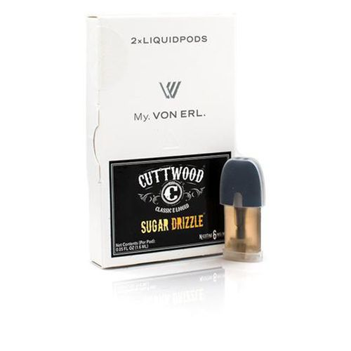 Cuttwood Vapors My. Von Erl LiquidPods Sugar Drizzle (2 Pack) - Indulge in a perfectly sweet balance of cinnamon and milky cream with sugar bear and satisfy that craving for your favorite breakfast cereal.  2-Pack of ePods for use with the My. Von Erl VaporizerVon Erl creates a new category in the vaping market with its new My. Von Erl. The great vaping performance of an e-cigarette combined with the modern design of a cigalike. The 350 mAh battery guarantees a great vaping performance. The…