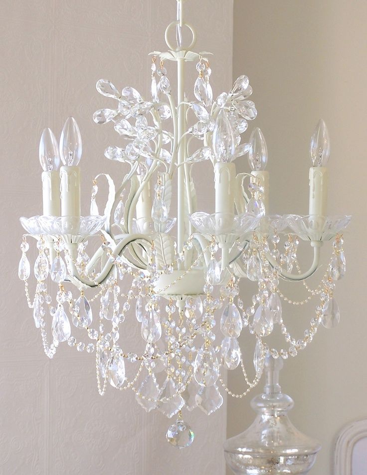 Nursery crystal chandelier baby nursery ideas pinterest chandeliers nursery and bed room for Crystal chandeliers for bedrooms