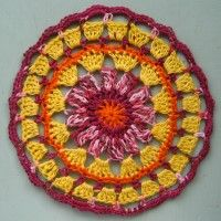 Crochet Mandala Wheel made by Ina, Slovenia, for yarndale.co.uk