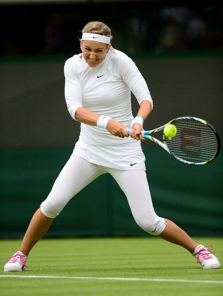 Victoria Azarenka Ladies' Singles first round match on day one of the Wimbledon June 24-2013 #WTA #Azarenka  #Wimbledon