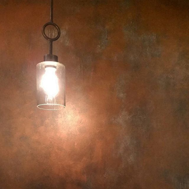 patina wall finish with copper and antique bronze metallic paint