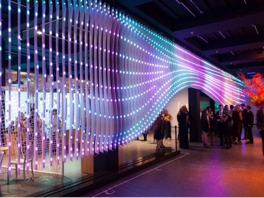 An interactive architectural media installation in Salt Lake City By EB Office