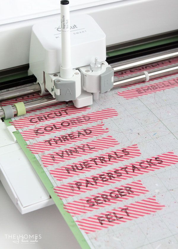 3 Creative Ways to Make Labels with a Cricut Explore | Washi Tape