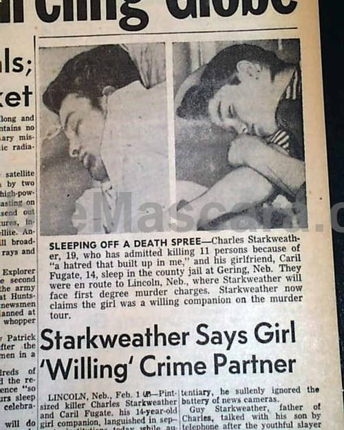 Rare newspaper article about Charles Starkweather and his exgirlfriend Caril Ann Fugate #expartner #love #relationship #lovesick #advice #romance #partner #breakup #rekindle #spark
