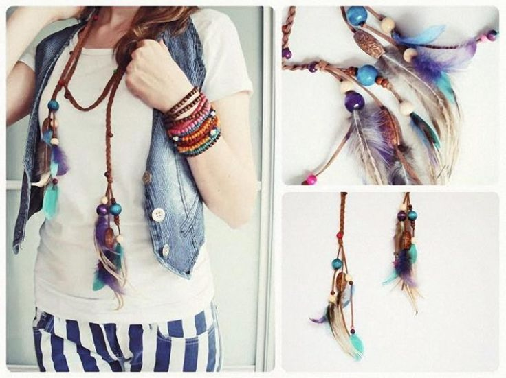 DIY tutorial: Make A Boho Necklace with braids via en.DaWanda.com