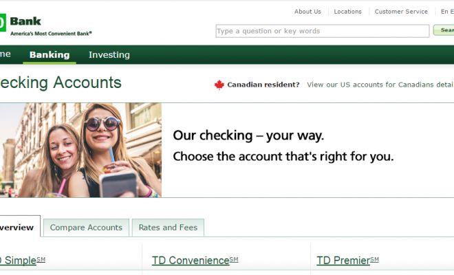 TD Bank Checking Accounts: 6 Types