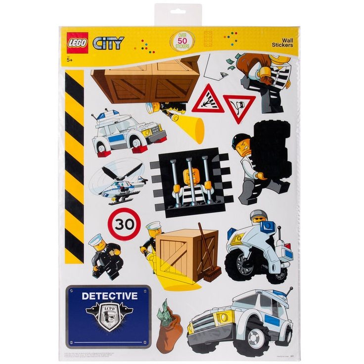 Lego City Police Giant Wall Stickers Official New 50+ Pieces Room Decoration Part 52