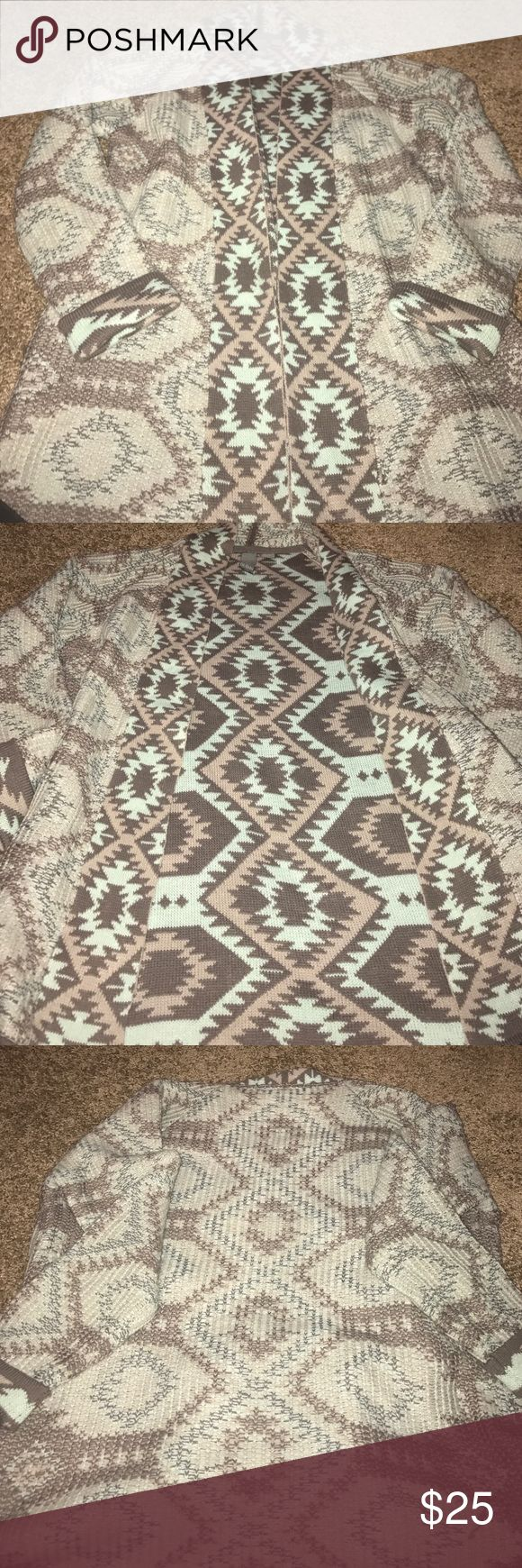 Aztec print cardigan- in perfect condition! Aztec print cardigan Sweaters Cardigans