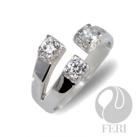 """- Exclusive FERI 950 Siledium silver - Exclusive dual natural rhodium and palladium plating - Set with exclusive FERI Swan cut lab stones - Colour: white - Dimension: 10mm (0.39"""")"""