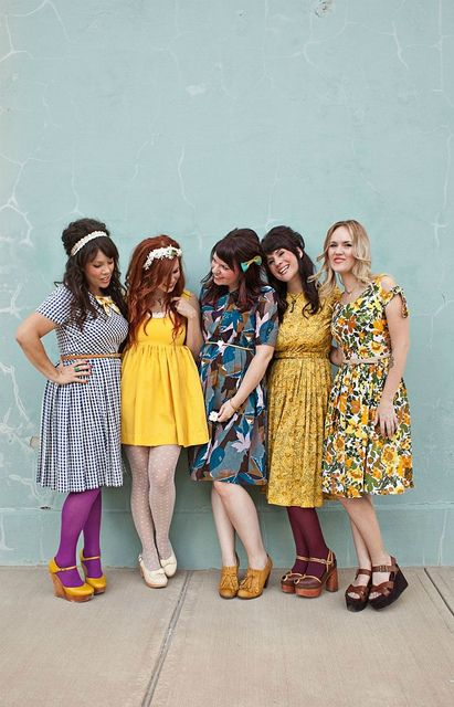 Vintage dress loveliness, I have a girl crush on every.single.one of these ladies.