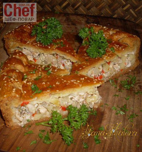 Пирог с курицей, картофелем и луком / Завтраки / Рецепты / Шеф-повар – простые и вкусные кулинарные рецепты, фото-рецепты, видео-рецепты