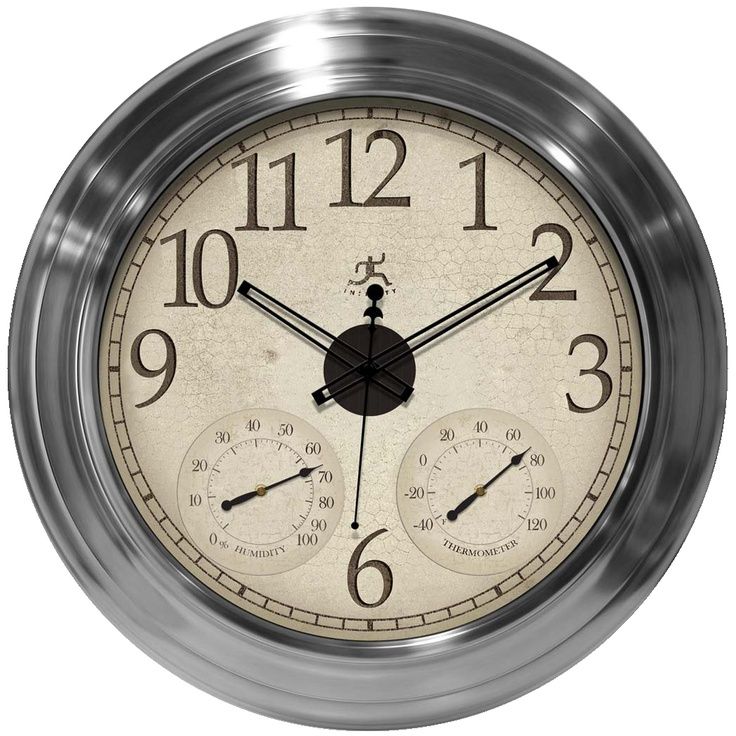 29 best images about modern on pinterest arbors clock decor and red eyes - Large brushed nickel wall clock ...