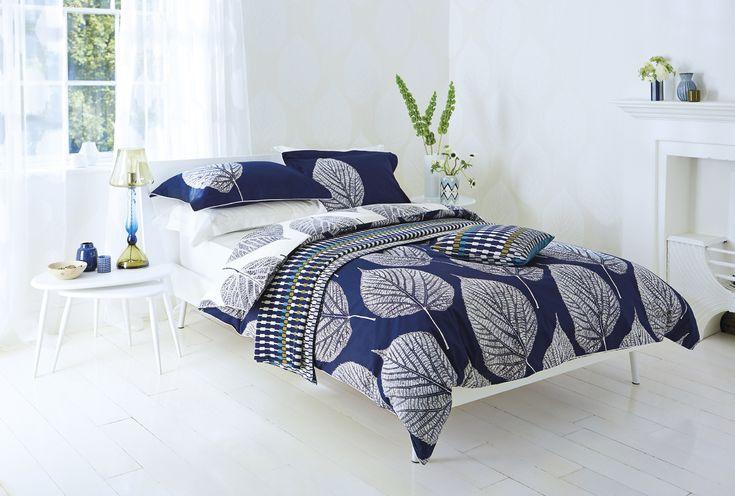 Bedroom With Navy Bed