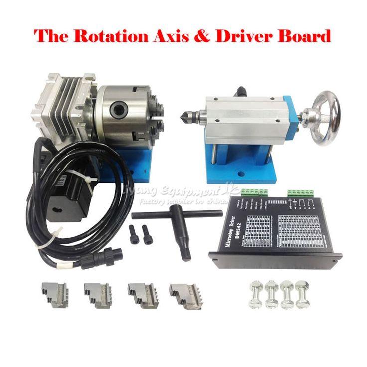 Eje de rotación cuarto eje A eje para CNC enrutador CNC máquina de dividir la cabeza escultura tridimensional tomar 80 fix con 4 chuck(China (Mainland))