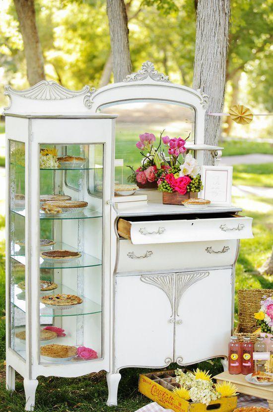 decorar una boda con muebles antiguos consiguiendo un estilo vintage