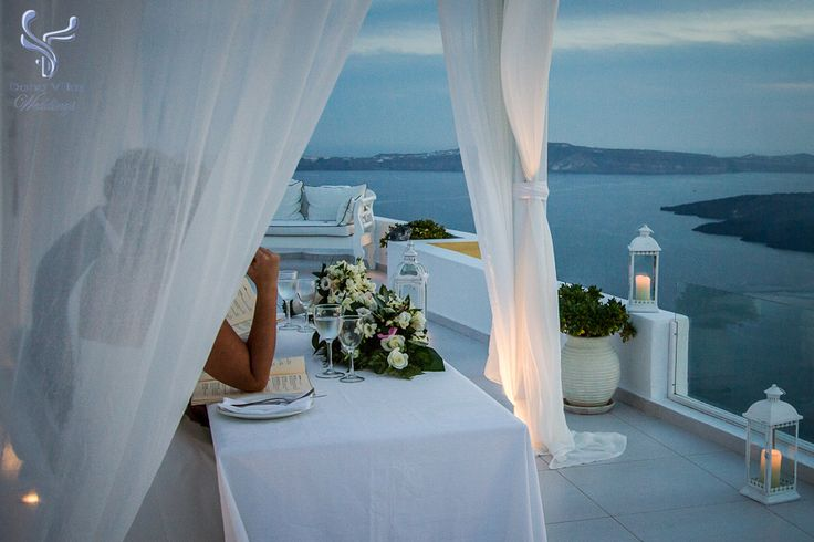 Private dinner within the curtain canopy.