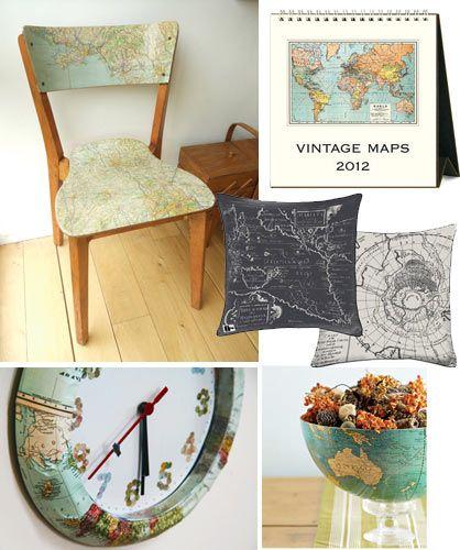 Best Map Decorations Ideas On Pinterest Vintage Map Decor