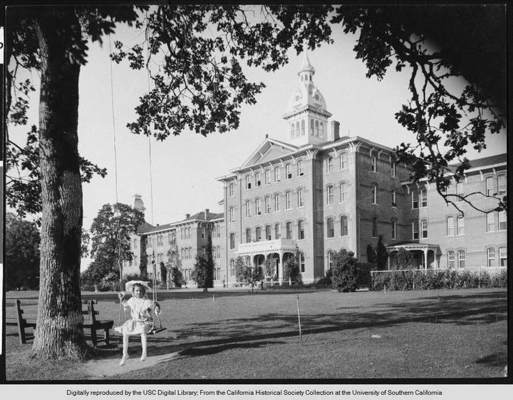 GIF IT UP 2015 entry from Sarah Cunningham in Salem, Oregon. Source material courtesy California Historical Society via USC Libraries and DPLA. Sarah says:I love the photo of the girl on the swing in front of the Oregon State  Hospital, and what is better gif material than an insane asylum! : )  I  work at the Oregon State Library and we also have the photo in our  collection so I was familiar with it, but I redid the gif with the photo  from DPLA.This GIF is made available under a CC-BY…