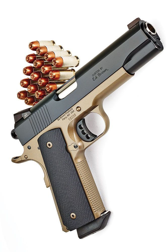 custom 1911 Special Forces 3 SS battle bronze 45 ACP semiautomatic handgun by Ed Brown