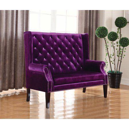 Coast Settee in Purple