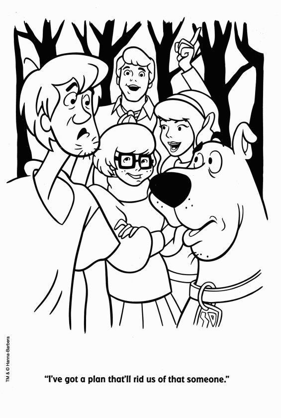 Printable Scooby Doo Coloring Pages For Kids   840x565