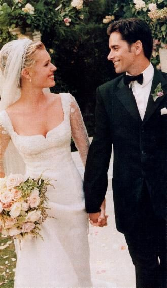 Actress and former model Rebecca Romijn married actor John Stamos in 1998.  They divorced in 2005.  In 2007 she married actor Jerry O'Connell and they are the parents of twins.
