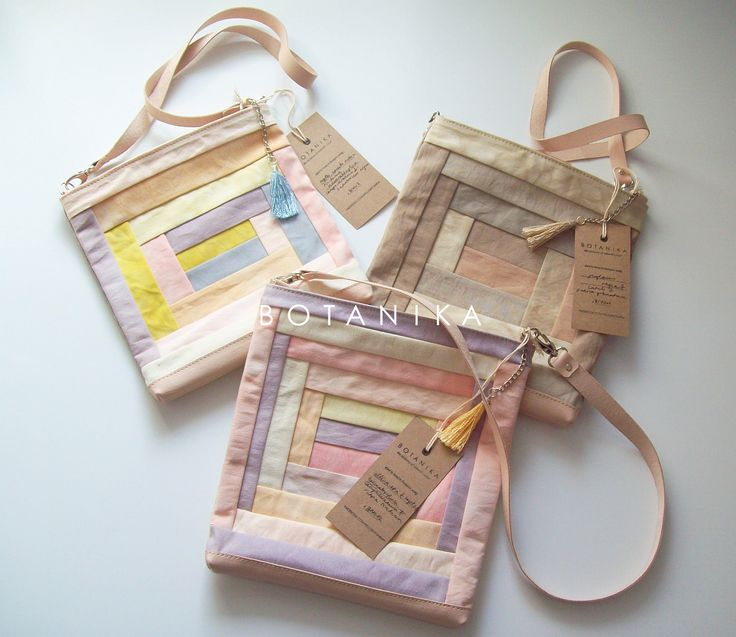 naturally dyed patchwork bags  www.facebook.com/hellobotanika
