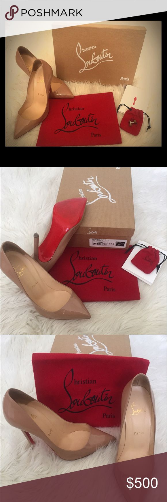 Christian Louboutin Pigalle 120mm Special Occasion Rose Antique