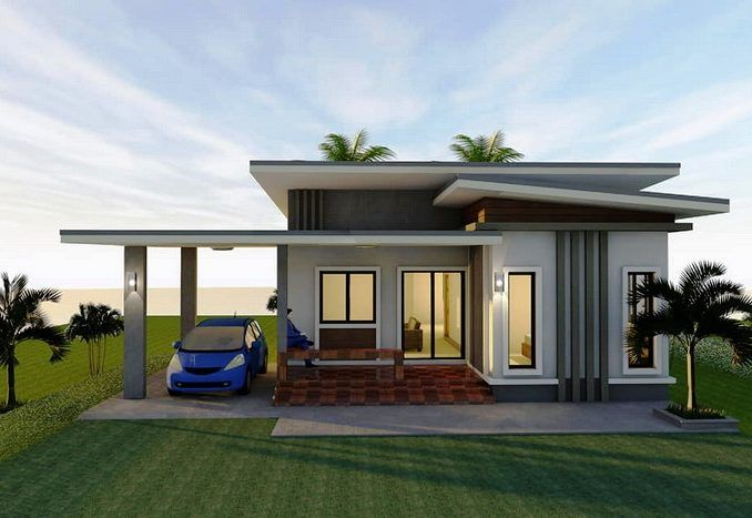 Stunning Three Bedroom Bungalow On A Platform With Extended Balcony House A Small House Exteriors Modern Bungalow House Design Small House Design Philippines
