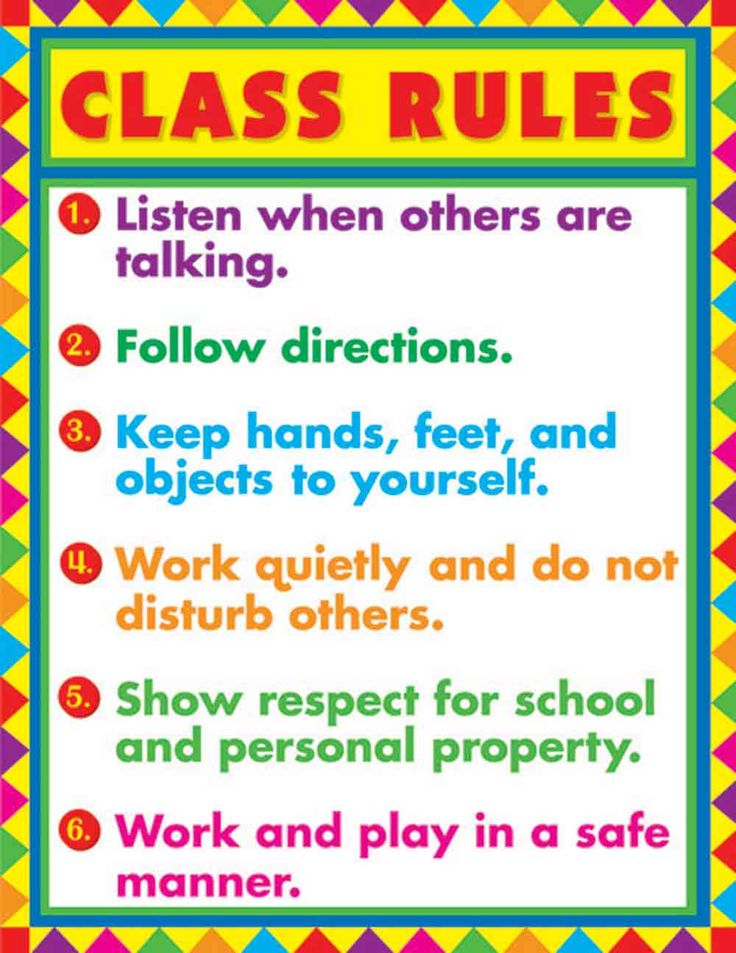 Classroom Rules - Yahoo Image Search Results