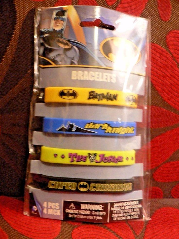 Batman Birthday Party Bracelets 4 Count Supplies USA Seller #DesignWare #BirthdayChild
