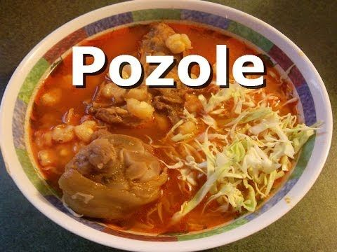 Pozole De Puerco Rojo made with a cute little abuela! So sweet and definitely authentic!!!