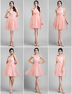 A-line Knee-length Tulle Convertible Dress (1484338)