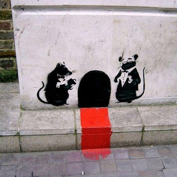 1000 images about banksy rat rato on pinterest for Banksy rat mural