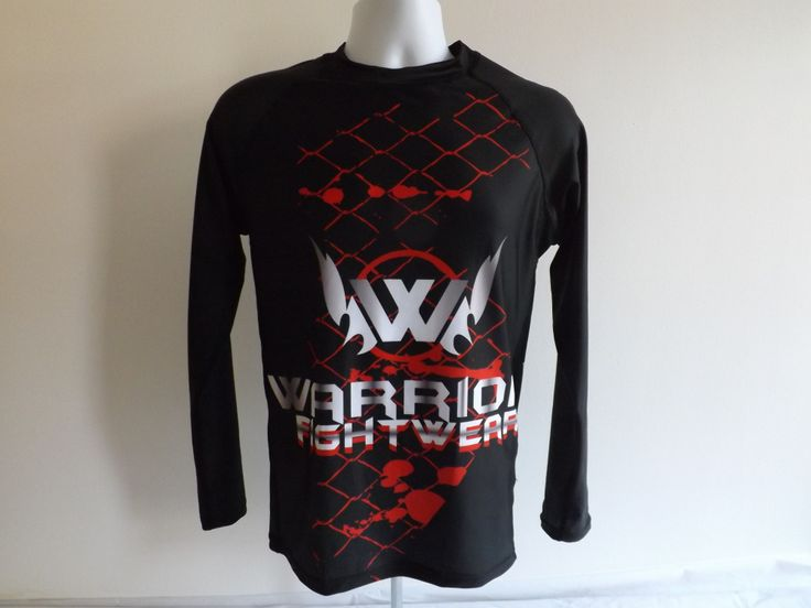 Cage Fighter long sleeve rash guard from WarriorFightwear