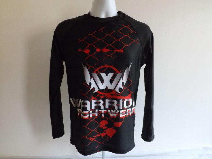 Cage Fighter long sleeve rash guard from WarriorFightwear