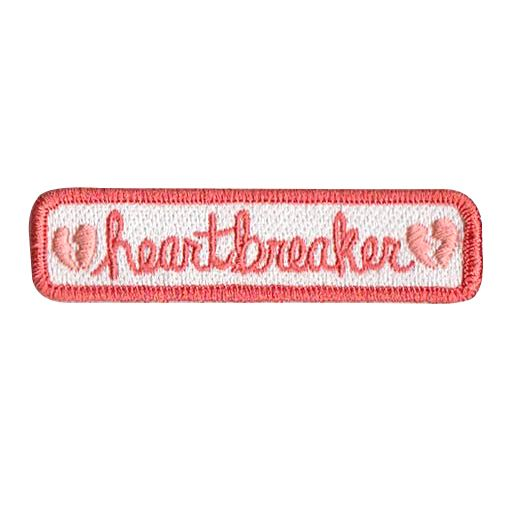"""***THESE+PATCHES+ARE+ON+PREORDER,+so+orders+containing+this+product+will+be+shipped+MID+SEPTEMBER!!!***+ Heartbreaker+you've+got+the+best+of+me. 3/4""""+x+3""""+100%+embroidered+patch,+iron-on+backing."""