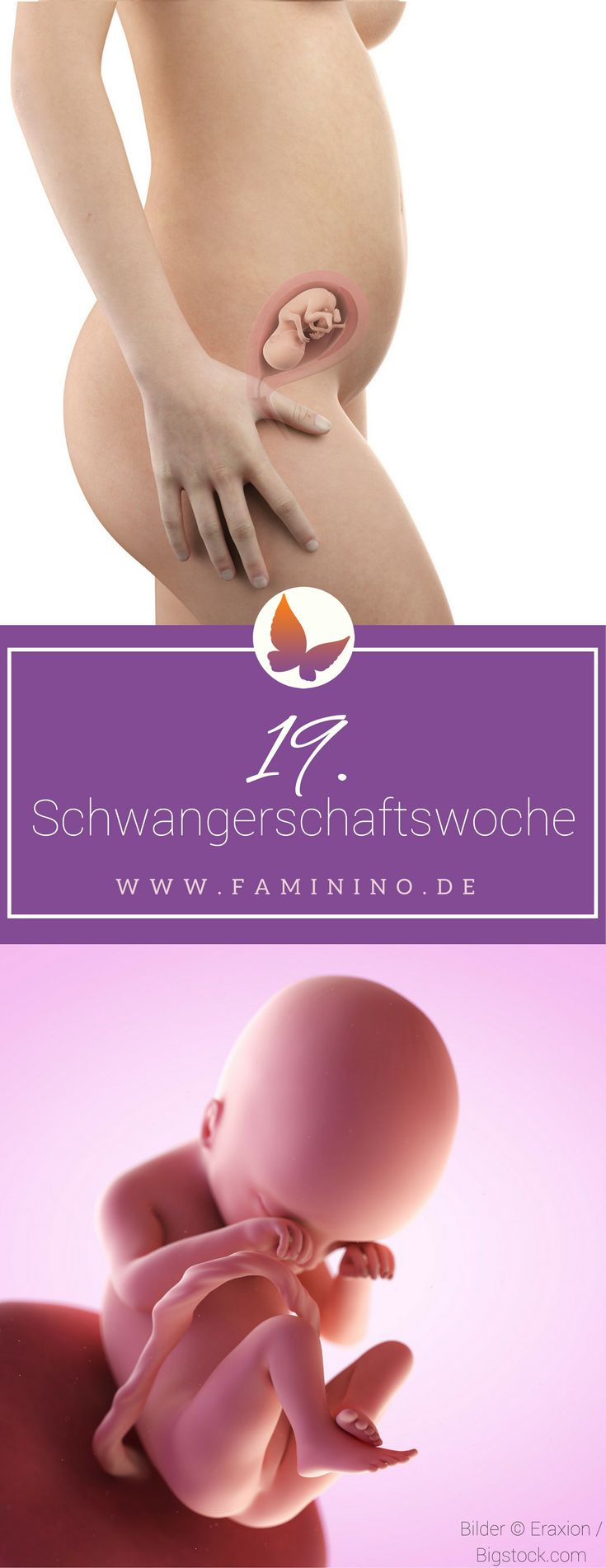 19. SSW (Schwangerschaftswoche): Dein Baby, dein Körper, Beschwerden und mehr