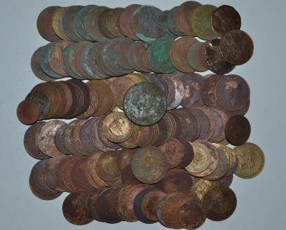 Old Coin finds - Cape Town 2012 #metal detecting