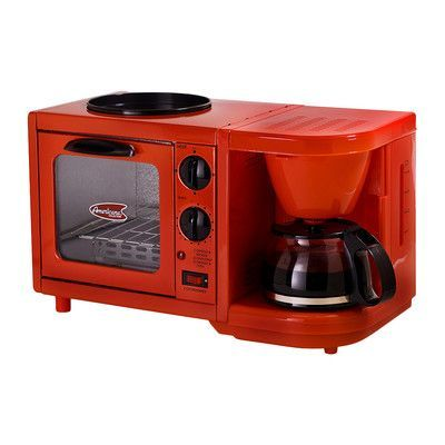 Elite by Maxi-Matic Americana by Elite 3-in-1 Mini Breakfast Shoppe Color: Red