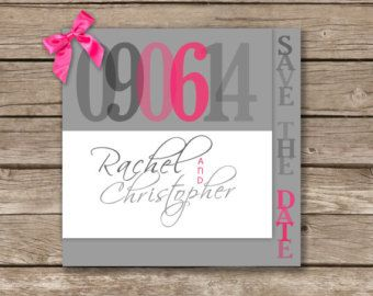 Wedding Save the Date Silver Save the Date Glitter by VPElegance