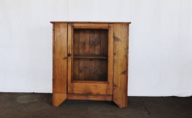 Small original South African cottage/ country oregon pine one door cupboard #C1 www.northcliffantiques.com #Furniture #Cottage #SouthAfrican