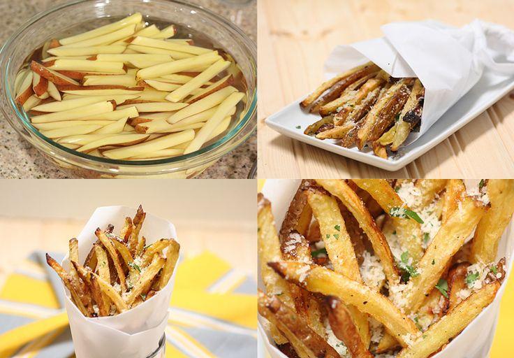 Patatas asadas con parmesano, más sabor y menos aceite