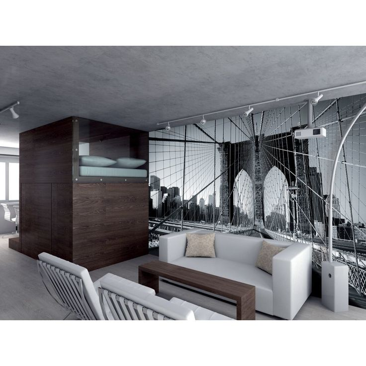 99 best images about interiors my favourite on pinterest for Brooklyn bridge black and white wall mural
