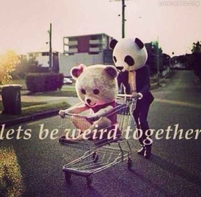 Lets Be Weird Together Love Quotes Cute Couple Weird Together Instagram  Insta.